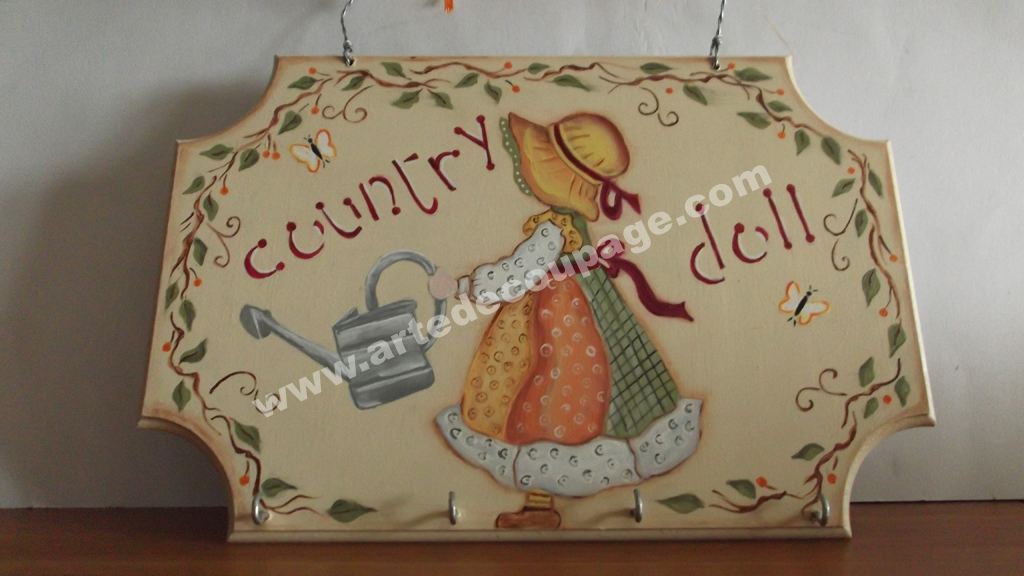 Appendino porta strofinacci Country Painting - Arte Decoupage Angy ...