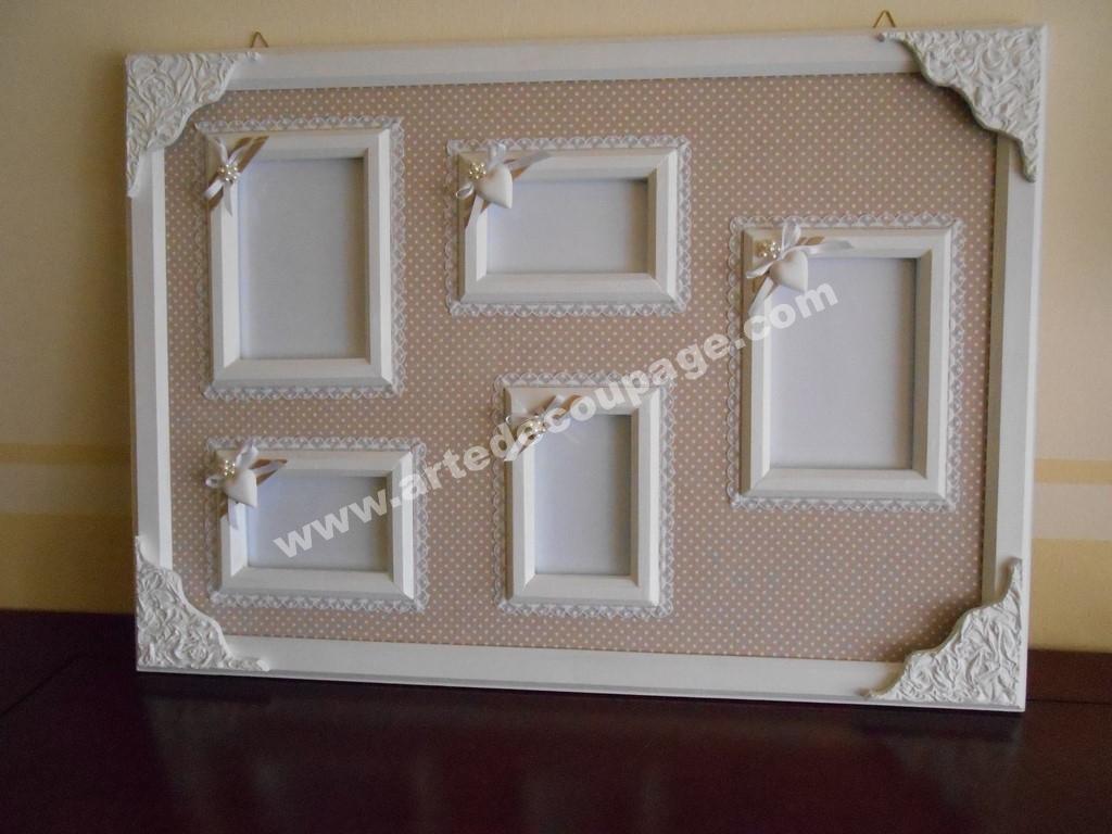 Pannello portafoto da parete in shabby chic arte decoupage angy silvia piacente - Parete shabby chic ...